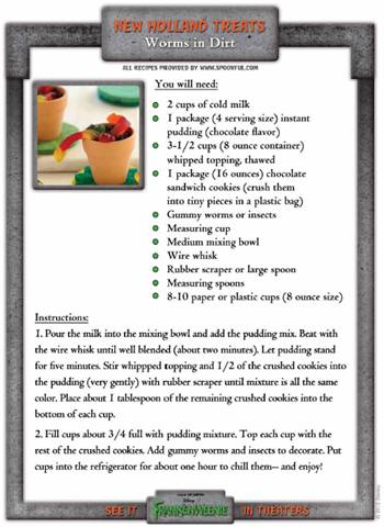 Recipe: Worms in Dirt