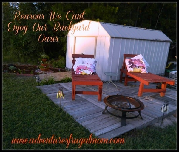 Reasons We Can't Enjoy Our Backyard Oasis