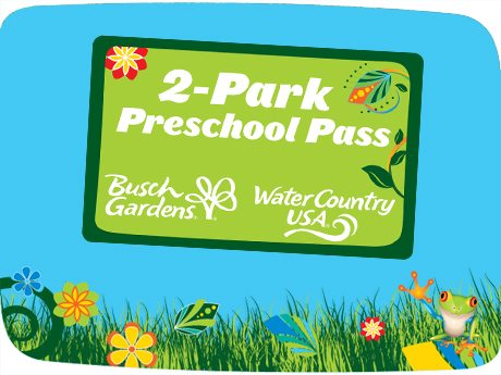 Free 2 Park Preschool Pass to Busch Gardens Williamsburg
