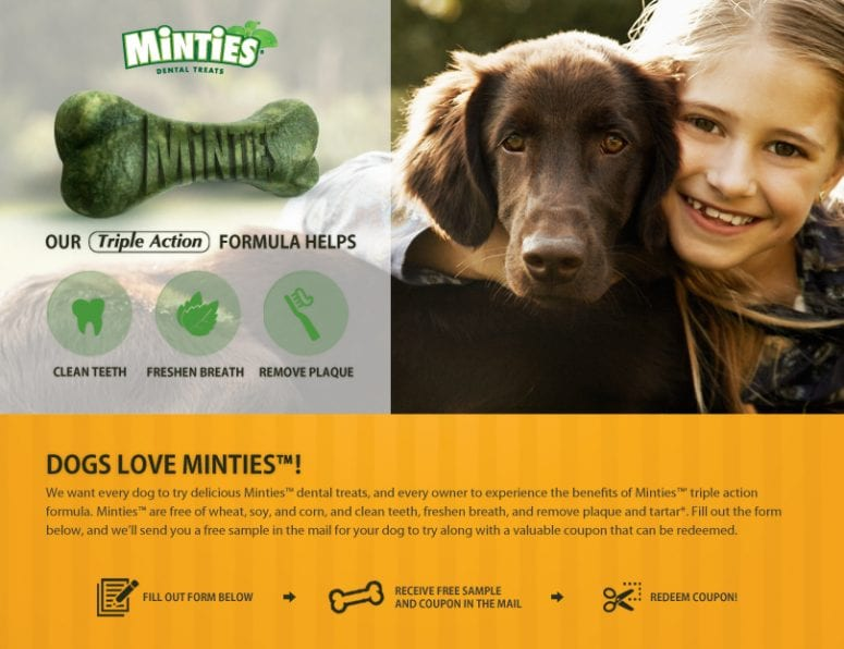 Freebie: Minties for Dogs