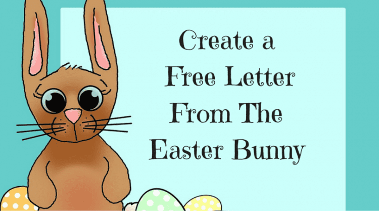Create a free letter from the easter bunny adventures of frugal mom spiritdancerdesigns Image collections