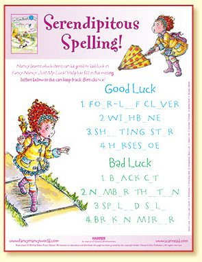Free Fancy Nancy Printables