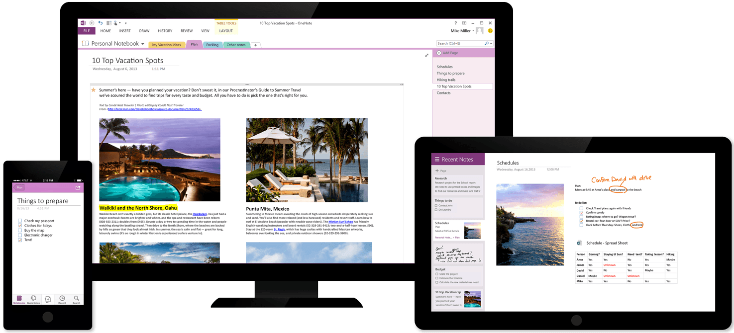 Get OneNote free on all your devices