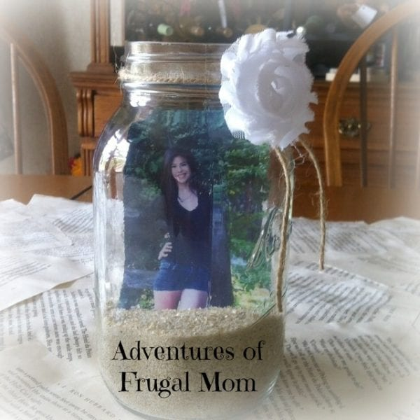 Frugal Mason Jars Centerpieces - Adventures of Frugal Mom