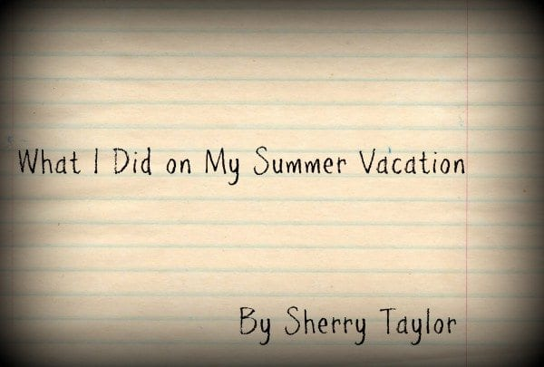 write an essay about your summer vacation