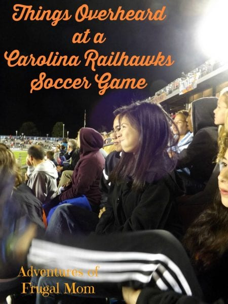 Things Overheard at a Carolina Railhawks Soccer Game