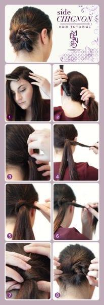 Hair Tutorial: Side Chignon–The French Bun