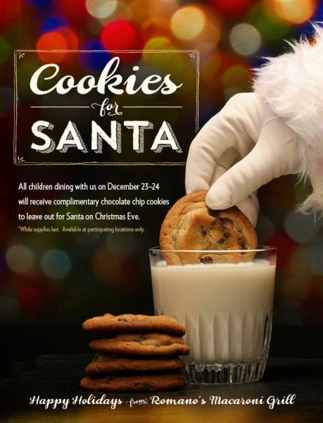 Cookies For Santa From Macaroni Grill