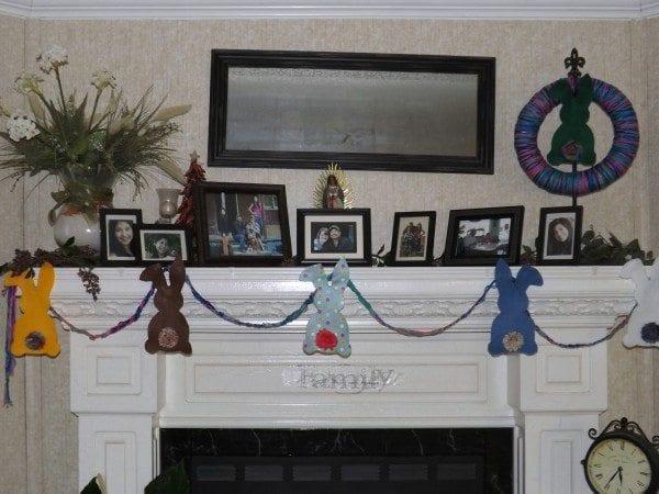 mantel display