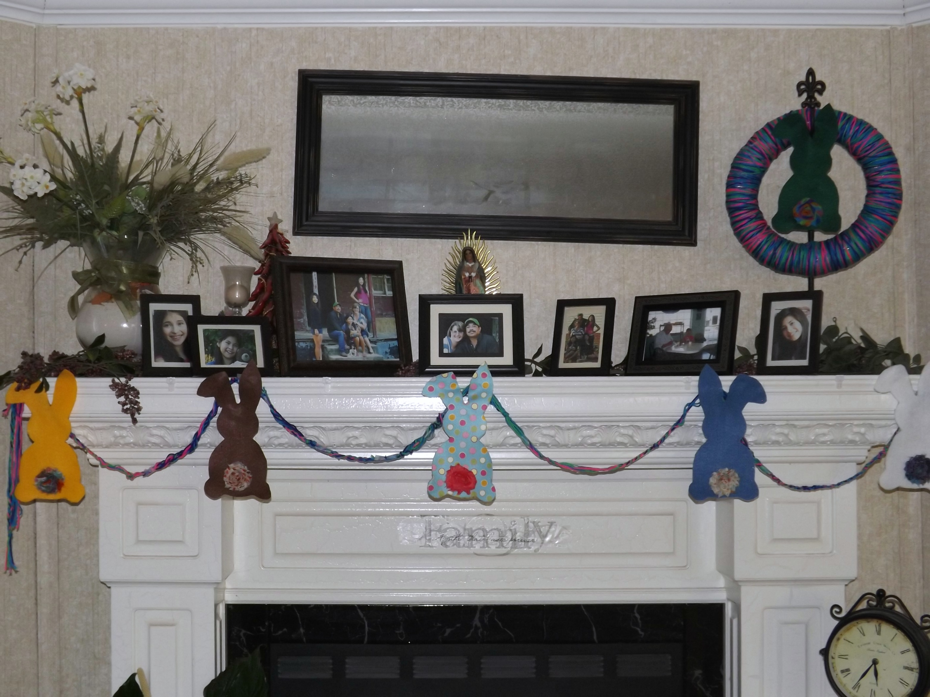 How to create a bunny inspired mantel display adventures for Mantel display ideas