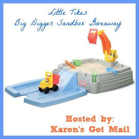 Little Tikes Big Digger Sandbox Giveaway