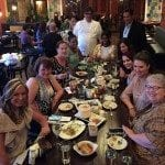 Our table with the chef and the owner of Mesa Latin Kitchen