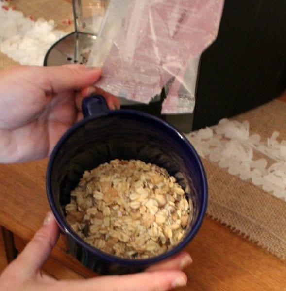 oatmeal in mug