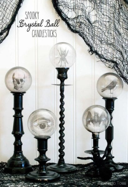 Spooky Crystal Ball Candlesticks - HMLP 58 Feature