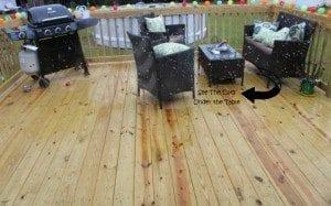 deck rain