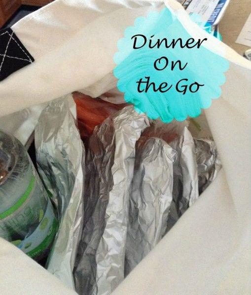 healthy Choice dinner on the go