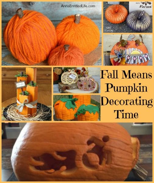 Fall Means Pumpkin Decorating Time