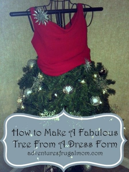 How To Make A Fabulous Tree From A Dress Form