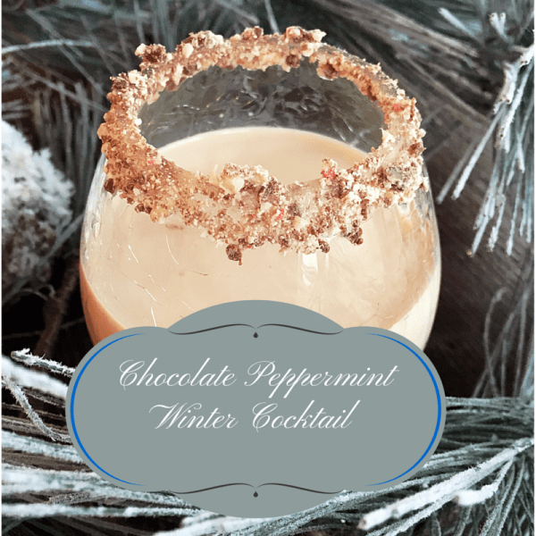 Chocolate Peppermint Winter Cocktail