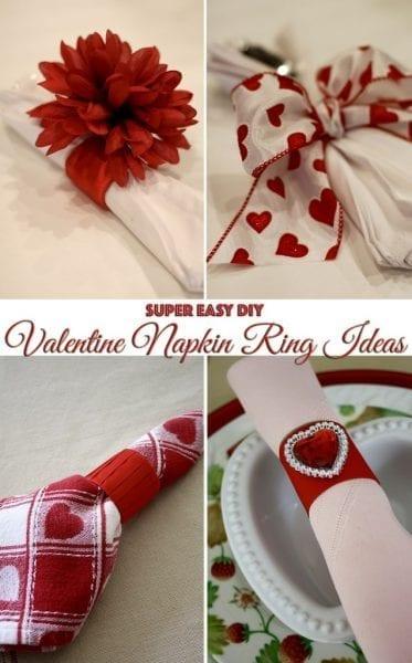 DIY Valentine Napkin Ring Ideas - FrugElegance - HMLP 70 Feature