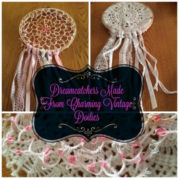 Dreamcatchers Made From Charming Vintage Doilies