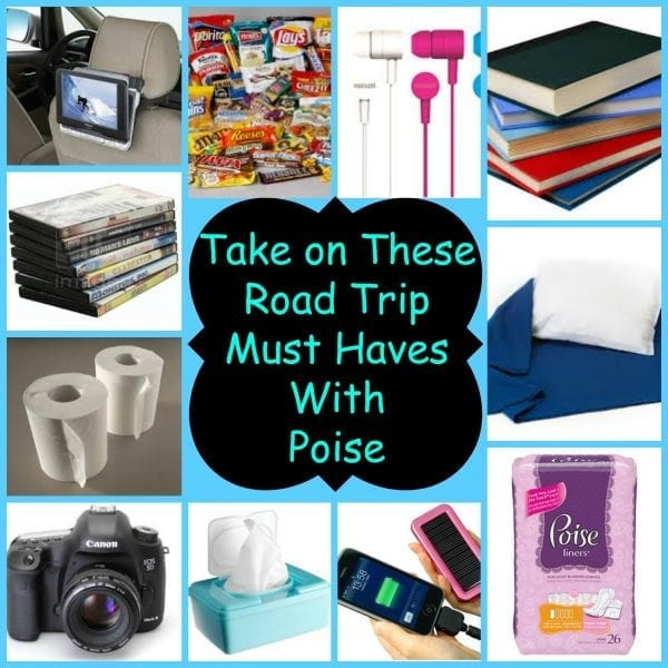Take On These Road Trip Must Haves with Poise #MyPoiseMoment