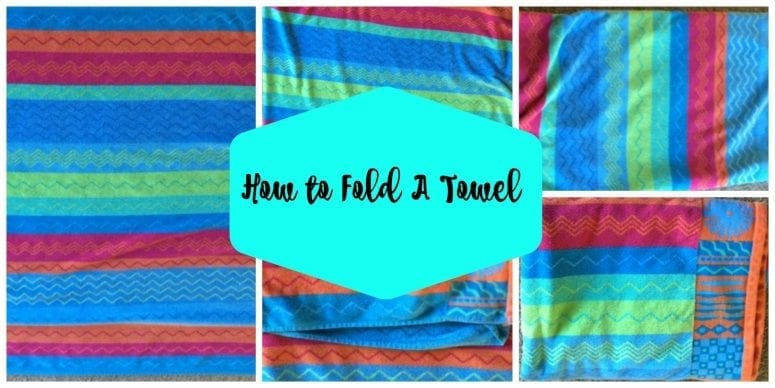how to fold a towel collage