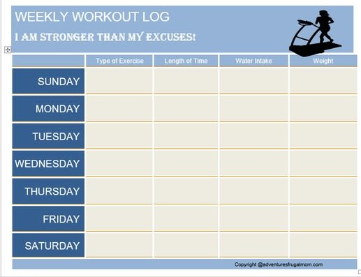 Getting in Shape With V8 Workout Log