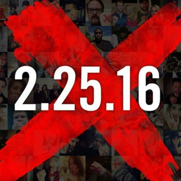 #ENDITMOVEMENT Sport a Red X to  End Human Trafficking