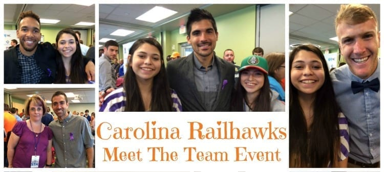 Carolina Railhawks Meet The Team Event