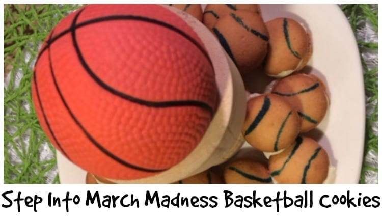Step Into March Madness Basketball Cookies