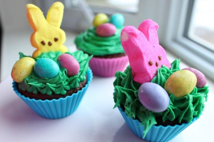 Adorable Peep Cupcakes