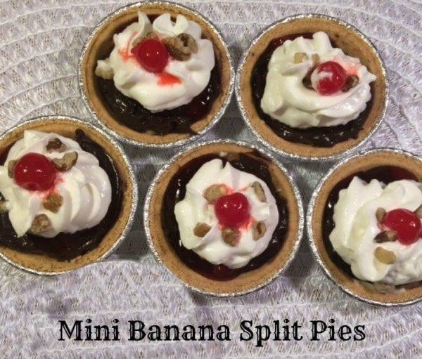feature mini banana split pies