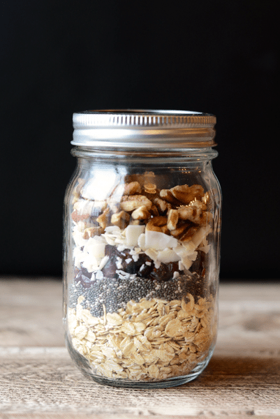 oatmeal in a jar