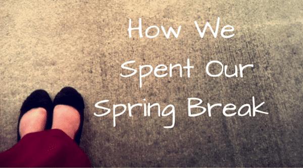 How We Spent Our Spring Break