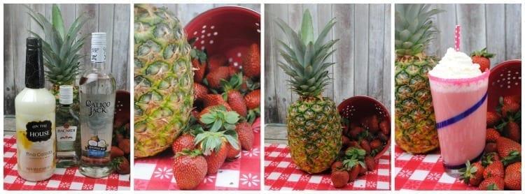 Pineapple Strawberry Pina Colada For Cinco de Mayo