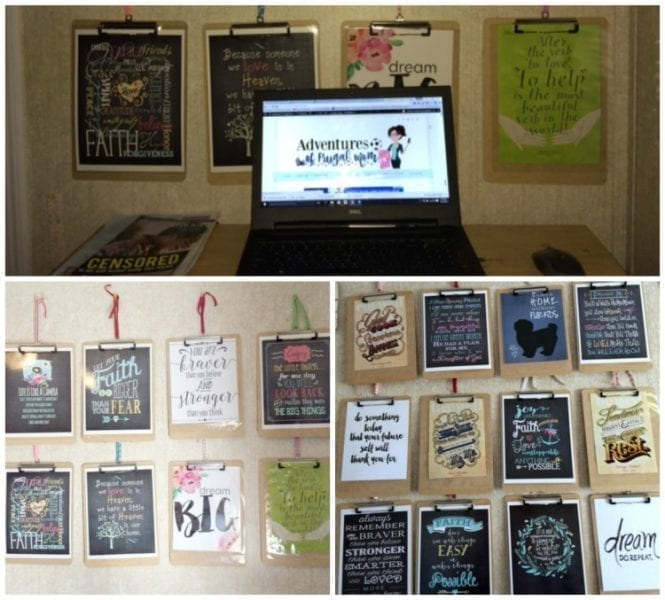 Creating an Inspiration Wall For Less