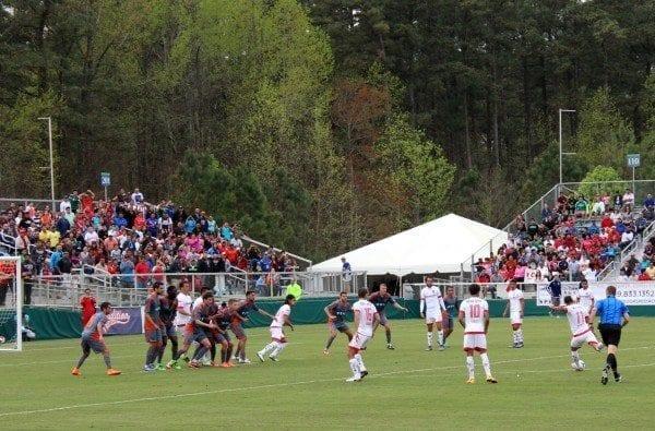 mexico soccer game toluca vs. railhawks