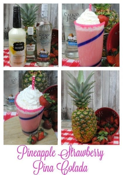 pineapple strawberry Pina Colada
