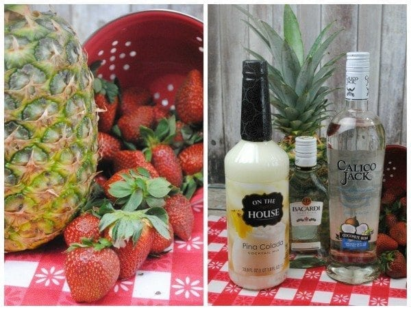 pineapple strawberry pina colada ingredients