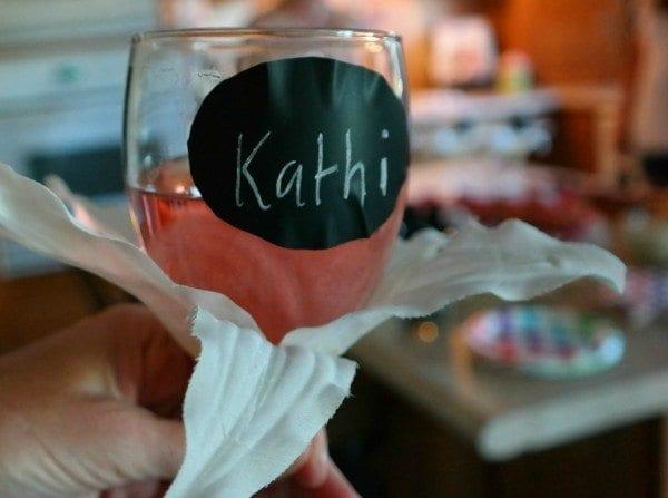 Chalkboard Label Wine glass
