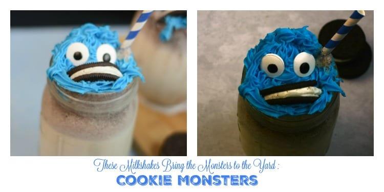 These Milkshakes Bring the Monsters to The Yard: Cookie Monsters