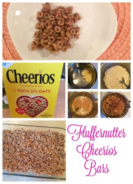 Fluffernutter Cheerios Bars