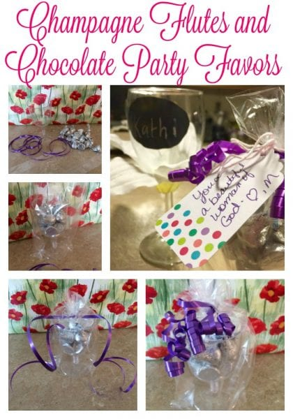 Pinterest Champagne Flutes and Chocolate Party Favors