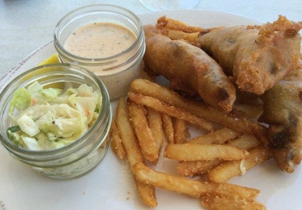 local beer battered fish and chips