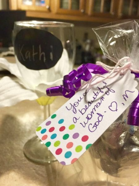 Champagne Flutes and Chocolate Party Favors