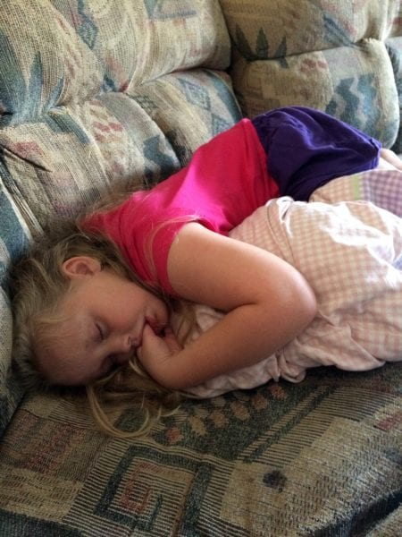 Cheridan Asleep