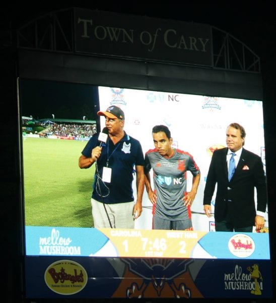 Omar Bravo with Owner