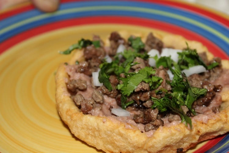 Sopes de Carne Asada and Wine = A Good Time