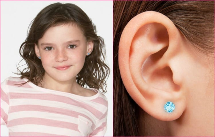 14k for Kids Birthstone Earring Great Christmas Presents